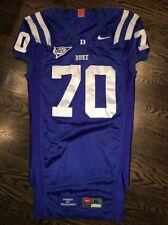 Game Worn Duke Blue Devils Football Jersey Used Nike #70 Size Xl
