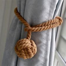Cable cortina cuerda Loghot azul marino corbata algodón rural espaldas sola bola