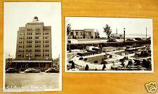 Traverse City MI 2 rppc Postcards Park Place Hotel Miniature City Clinch Park
