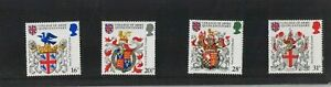 MINT 1984 GB HERALDRY COLLEGE OF ARMS STAMP SET OF 4 MUH