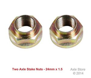 2 New Acura Honda Axle Stake Nuts OE Repl. , 24mm x 1.5, Free Shipping
