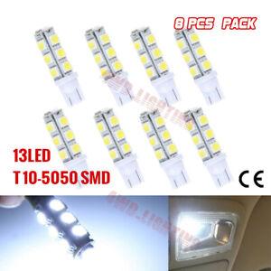 8 PCS T10 13 SMD 5050 LED LIGHT PARKER LIGHT /WEDGE LIGHT BRIGHT WHITE 12V