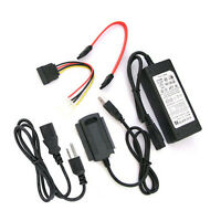 USB 2.0 to SATA IDE with power adapter Converter For 2.5 3.5 Hard Drive 1PCS