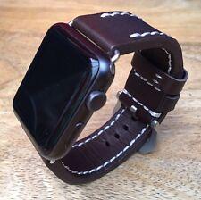 100% alta qualità Pelle Marrone Cinturino Per Orologio Apple Iwatch 42mm