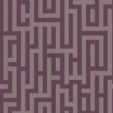 Graham & Brown Plum/Gold Geometric Illusion Wallpaper (57209)
