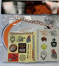 Old school Bmx Mongoose racing number plate Stickers Tattoos Valve Trick Caps