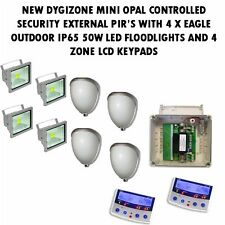 Iluminación perimetral y alerta de alarma para hogar o negocio con 4 zona LCD Teclado