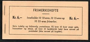 10/238.NORWAY,1957 6 KR.BOOKLET,SC.307a,325a,346a.MNH,PERF.TRIMMED LOWER SIDE