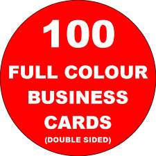 100 DOUBLE SIDED Colour Business Cards Printed on 350gsm Card