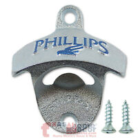 Embossed PHILLIPS BREWING Starr X Wall Mount Stationary Bottle Opener Cast Iron