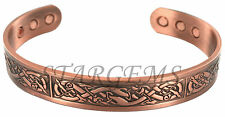 MENS BIO MAGNETIC CELTIC COPPER TORQUE BANGLE/BRACELET ARTHRITIS/PAIN RELIEF