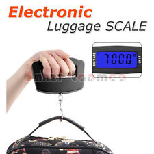 Portable Electronic Travel Luggage Digital Scale Hook Hanging Weighting Max 50KG