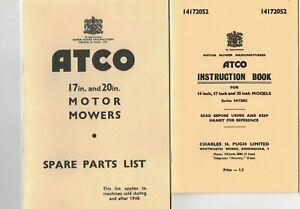 ATCO  Vintage Mower Instruction Manual & Parts List ***Copies***