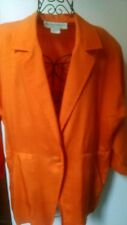 Evan-Picone Orange Silk Blazer-Size 8, Item #142