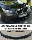 BMW E60 E61 M5 FRONT BUMPER Lip Spoiler splitter front diffuser ABS Plast GLOSS