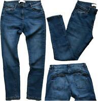 NEW In! NEXT Ladies MID BLUE Cotton Rich Mid Rise Skinny Jeans 6-20 R L XL P