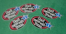 """5 Don't mess with Texas bumper window stickers decal size 6"""" x 3"""" Unused Vintage"""