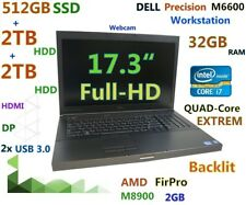 "(17.3"" 3D-Design FHD) DELL M6600 i7-2960XM EXTREME (512GB-SSD + 2TB + 2TB 32GB)"