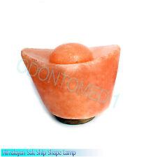 Crystal Rock Salt Himalayan Lamp Ship Shape Air Purifier Ideal Light Cord Bulb