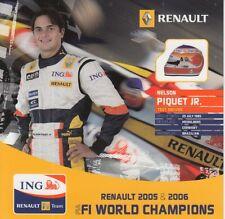 Nelson Piquet Jr Ing Renault R27 Fórmula 1 Tarjeta Promo F1.