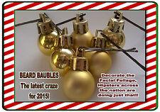 Christmas Secret Santa Novelty Gift Baubles For Beards Decorations & Hair Grips