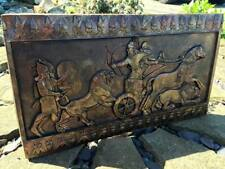 PERSIAN copper effect sculptural wall plaque Irani iranian babylon warriors