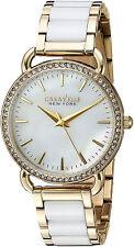 Reloj Bulova Ceramic Crystal Gold Mujer Pulsera Bracelet Watch Hand Woman Pearl