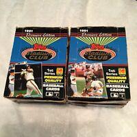 1991 Stadium Club Baseball Wax Box Series 1