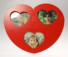 MARICART Cornice Portafoto Scomponibile LOVE PUZZLE in Legno per 3 Foto 6x7 cm