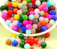 Free shipping 50pcs glass Imitation jade round spacer beads 10mm