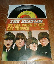 """BEATLES Orig 1965 """"We Can Work It Out"""" 45 & picture sleeve VG++/VG"""