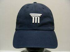 M FINANCIAL GROUP - NAVY BLUE - ONE SIZE ADJUSTABLE STRAPBACK BALL CAP HAT!