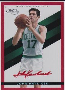 JOHN HAVLICEK AUTO Topps Signature Basketball #'d RED SP Card BOSTON CELTICS HOF