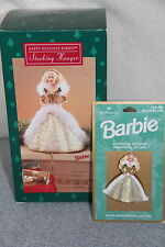 1995 Hallmark Barbie Holiday Surprise Matching Brooch & Stocking Hanger NEW NRFB