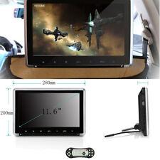 "11.6"" HD Backseat Car Monitor Headrest DVD Player HDMI FM IR USB SD Game Remote"
