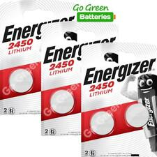 6 x Energizer CR2450 3V Lithium Coin Cell Battery 2450