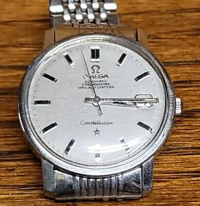 Vintage Omega Constellation Automatic Chronometer 35mm Watch Original Band Clean