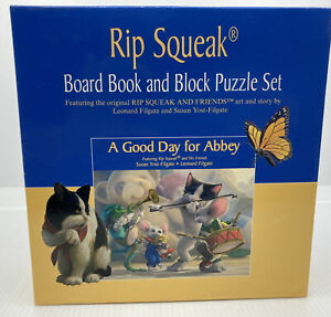 Rip Squeak Board Book And Block Puzzle Set: A Good Day For Abbey