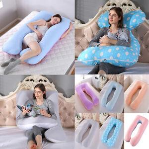 U Shape Full Body Maternity Pillow Case Sleeping Support for Pregnant Women WBLY