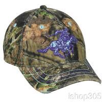 Winchester Mossy Oak Women's Camo Cap Blue Horse Logo Hunting Hat