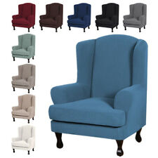 Wing Chair Cover Elastic Armchair Sofa Chair Cover Stretch Protector Slipcover