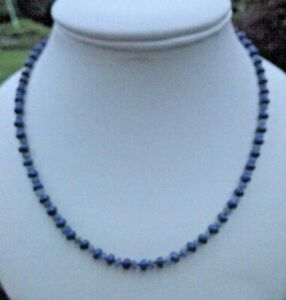 """BLUE SAPPHIRE CULTURED PEARL 16"""" NECKLACE EARRING ROSE GOLD PTD 925 SILK KNOTTED"""