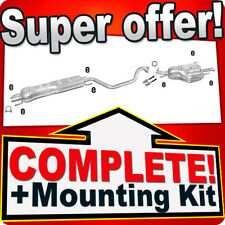 Exhaust Central Silencer VAUXHALL ZAFIRA Mk I II 1.6 1.8 2.2 03-10+mounting kit