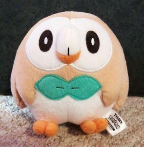"""TOMY Nintendo Pokemon 7"""" Rowlet Plush Toy Soft Cuddly"""