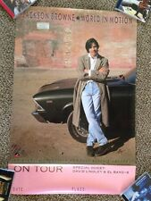"JACKSON BROWNE PROMO POSTER FOR ""WORLD IN MOTION"""