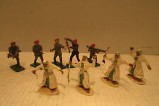 Crescent Plastic Toys Made in England Arab Fighters & British Soldiers Toys
