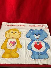 1985 Vintage Care Bear Cousins Cut N Sew Pillow Panels Un-Cut Monkey & Dog #1