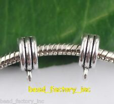56ps Tibet Silver Mental Beads Spacer Connectors Bails 6.5x10.5mm Free Shipping