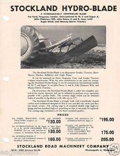 Equipment Brochure Stockland Hydro Blade Grader Dozer For Tractor Eb739