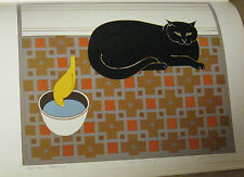 Will Barnet Cat and Canary Poster  Offset Lithograph Unsigned 16x11